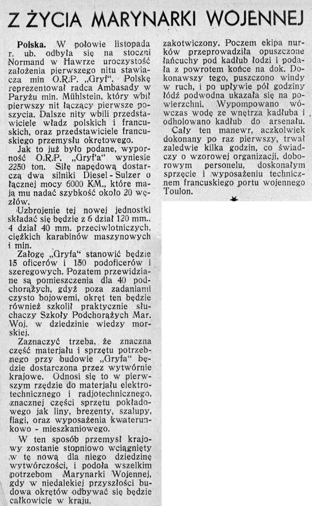 Z życia marynarki wojennej Morze1935-1-33