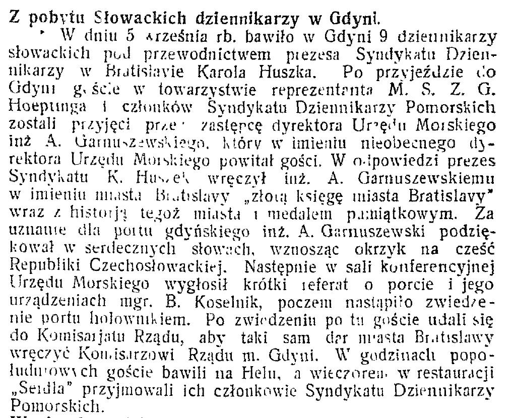 Z pobytu Słowackich dziennikarzy w Gdyni