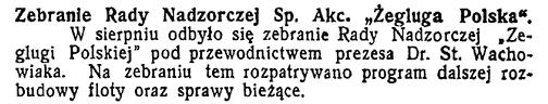 Zebranie Rady Nadzorczej Żeglugi Polskiej