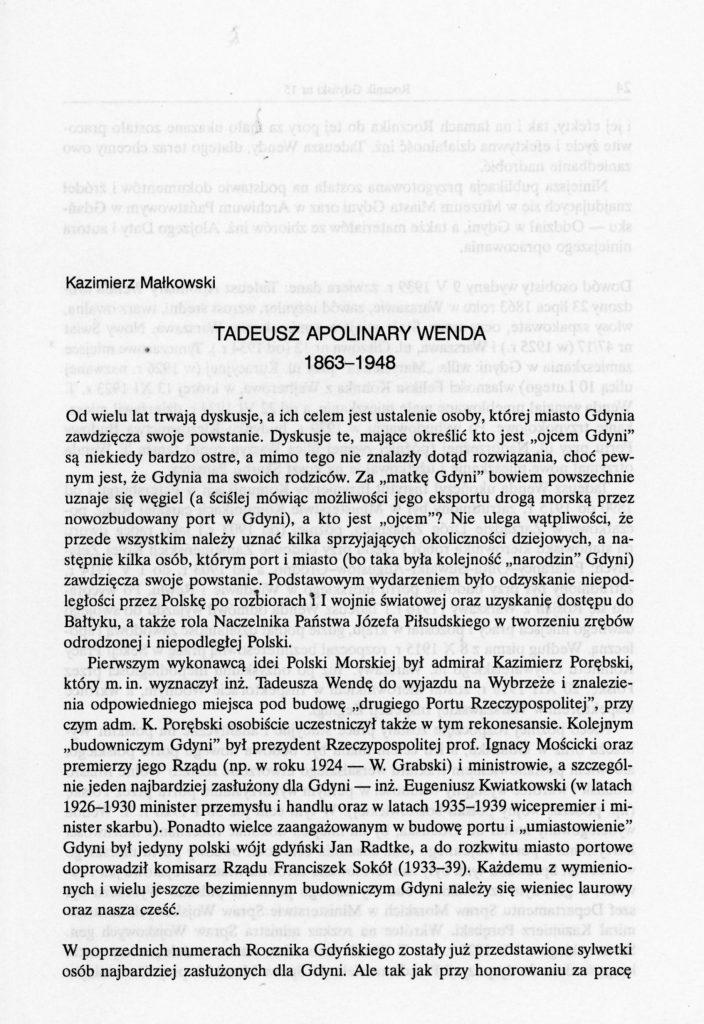 Tadeusz Apolinary Wenda