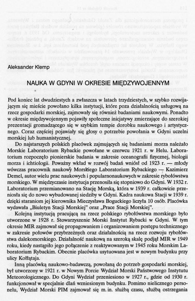 Nauka w Gdyni w okresie międzywojennym