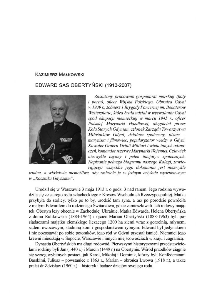 Edward Sas Obertyński (1913-2007)