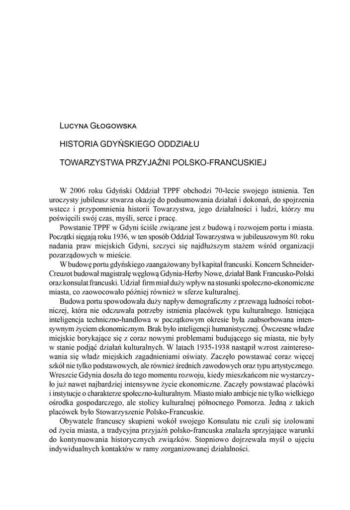 Historia gdyńskiego Oddziału Towarzystwa Przyjaźni Polsko-Francuskiej
