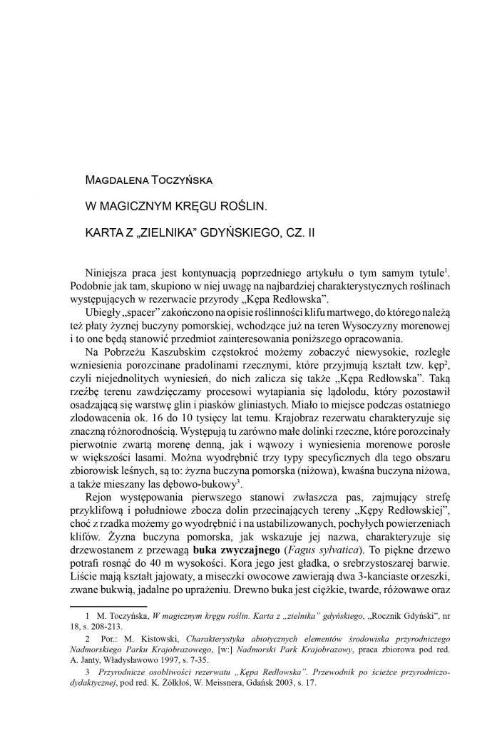 """W magicznym kręgu roślin. Karta z """"zielnika"""" gdyńskiego, cz. II"""