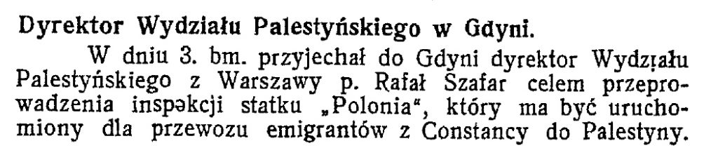 Dyrektor Wydziału Palestyńskiego w Gdyni