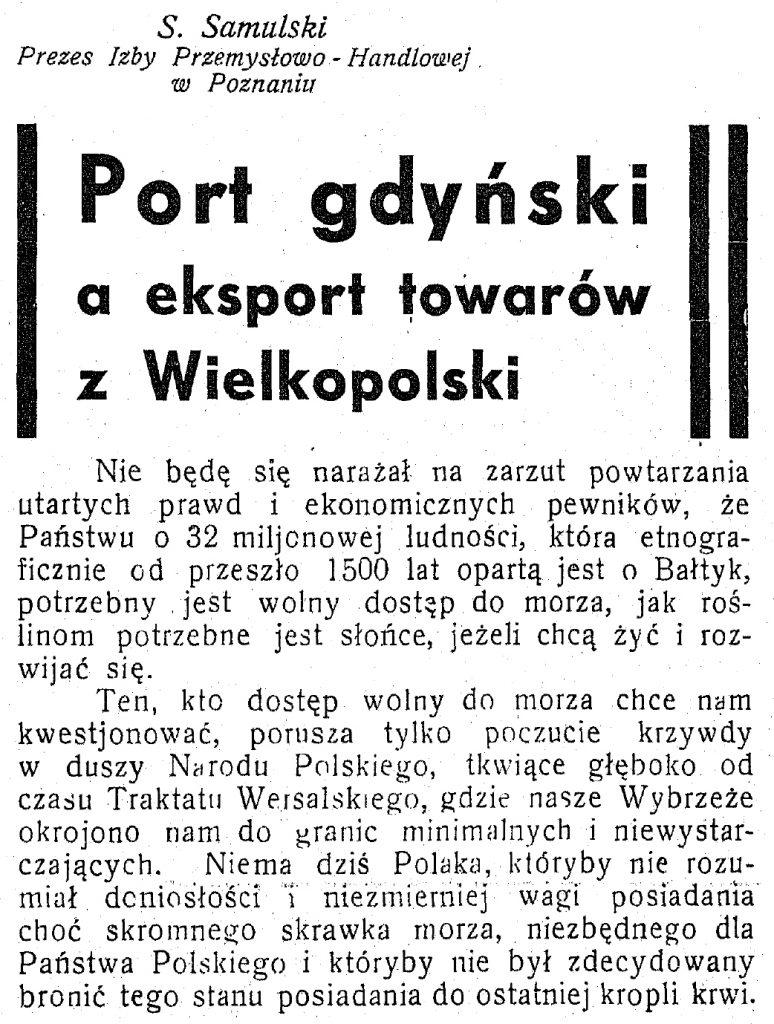 Port gdyński a eksport towarów z Wielkopolski