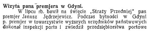 Wizyta pana premjera w Gdyni