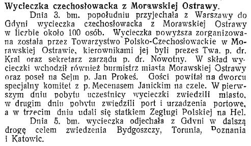 Wycieczka czechosłowacka z Morawskiej Ostrawy