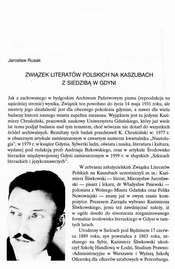 Związek Literatów Polskich na Kaszubach z siedzibą w Gdyni