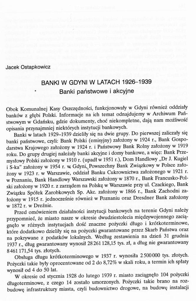 Banki w Gdyni w latach 1926-1939
