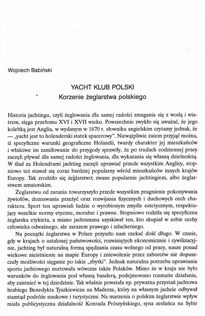 Yacht Klub Polski - korzenie żeglarstwa polskiego