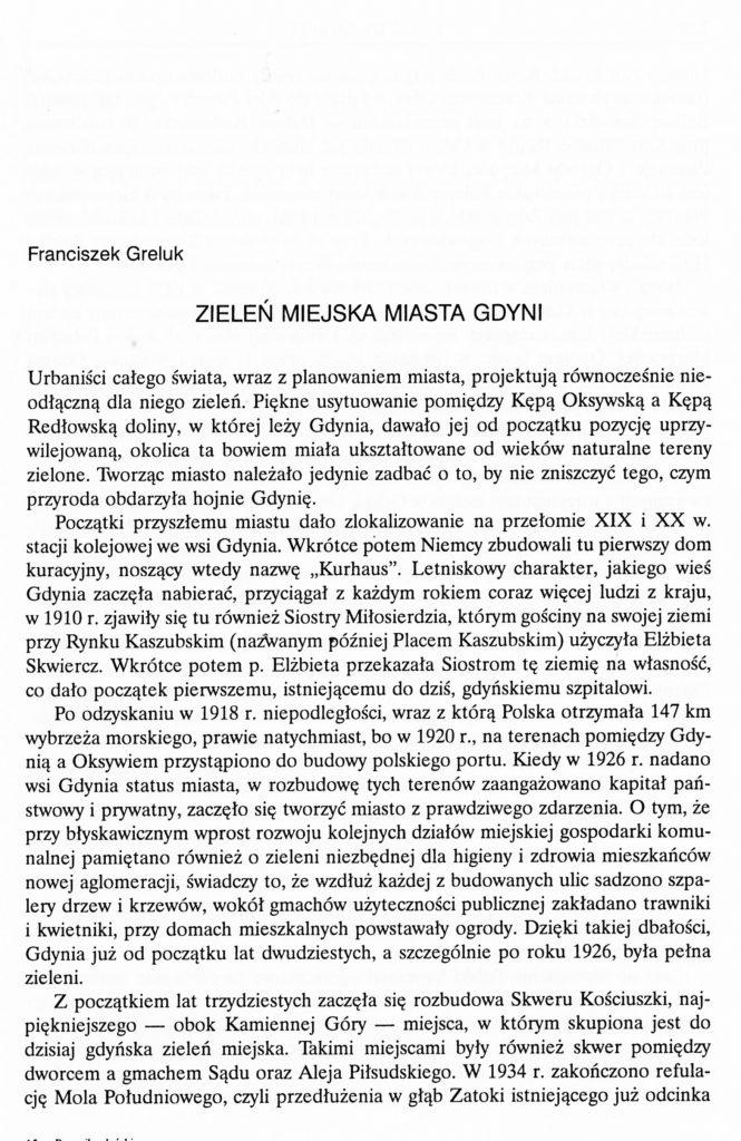 Zieleń miejska miasta Gdyni