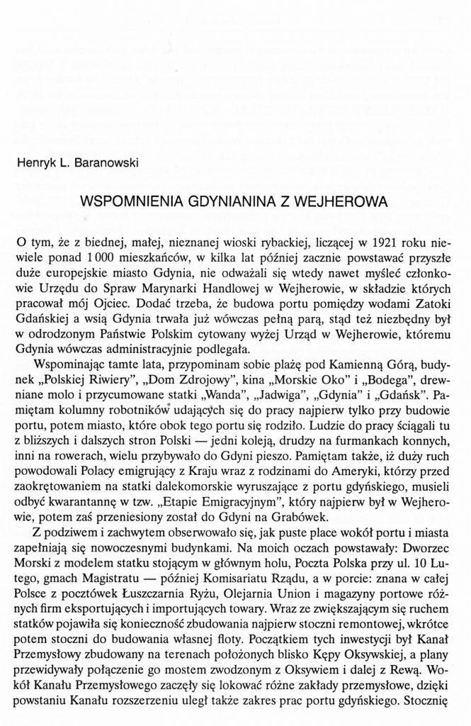 Wspomnienia gdynianina z Wejherowa
