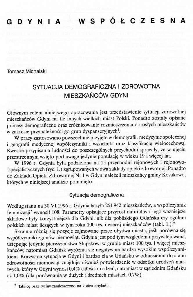 Sytuacja demograficzna i zdrowotna mieszkańców Gdyni