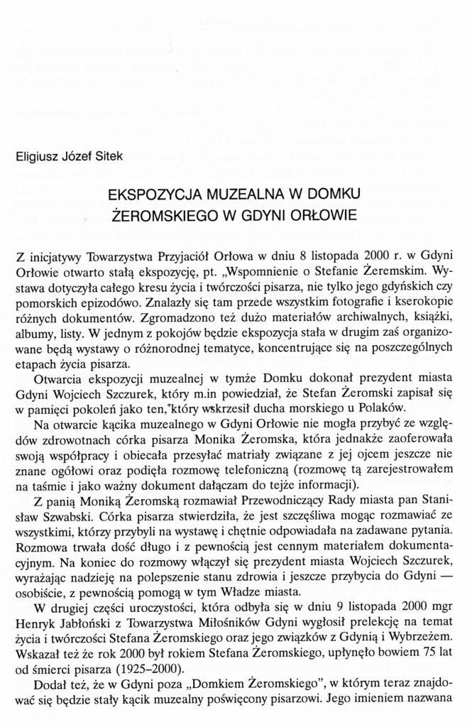 Ekspozycja muzealna w Domku Żeromskiego w Gdyni Orłowie