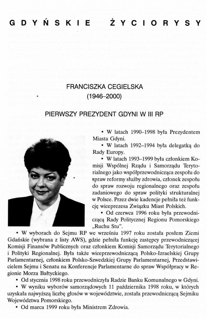 Franciszka Cegielska (1946-2000)