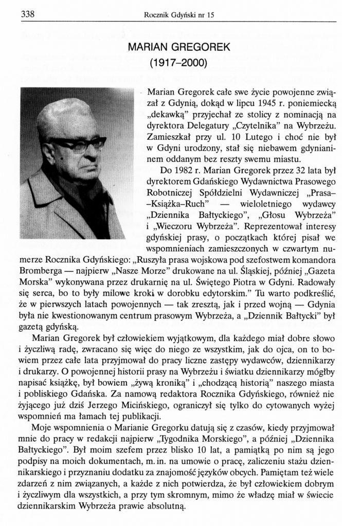 Marian Gregorek (1917-2000)