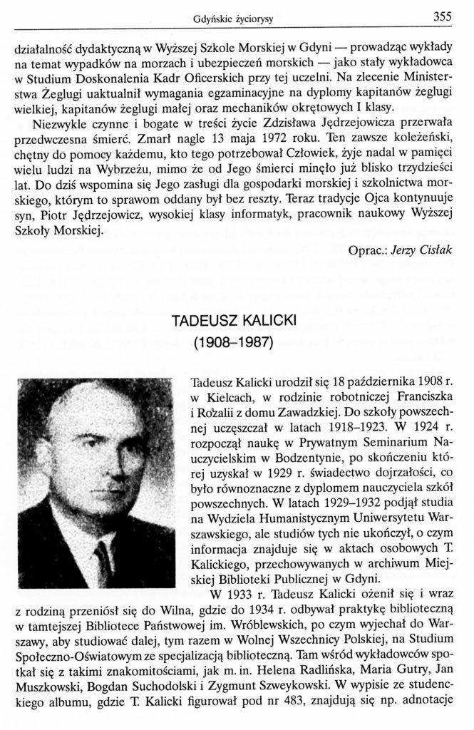 Tadeusz Kalicki (1908-1987)