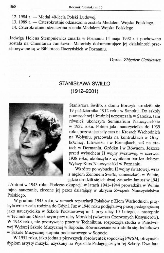 Stanisława Swiłło (1912-2001)