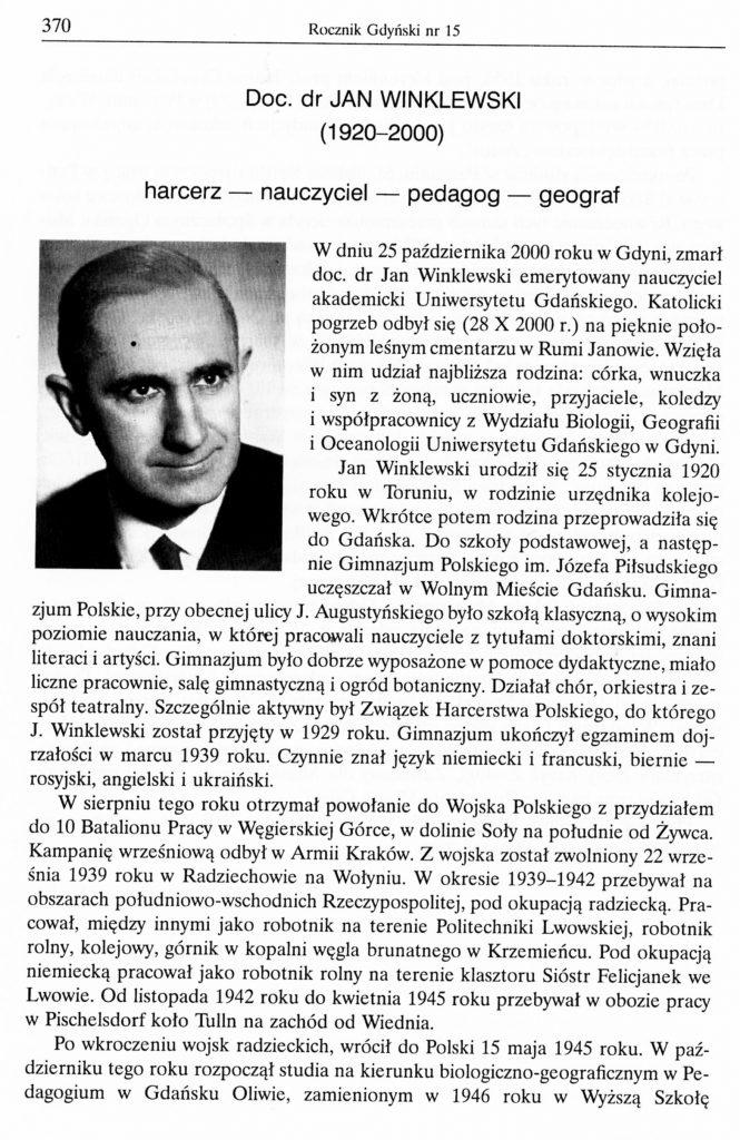 Jan Winklewski (1920-2000)