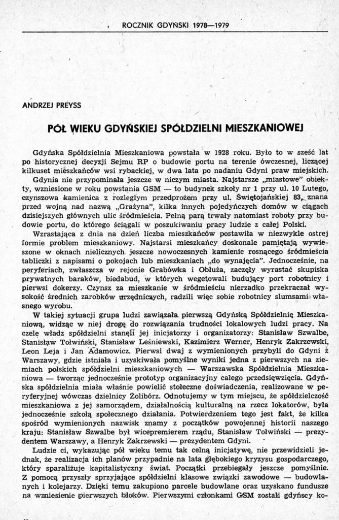 Pół wieku Gdyńskiej Spółdzielni Mieszkaniowej