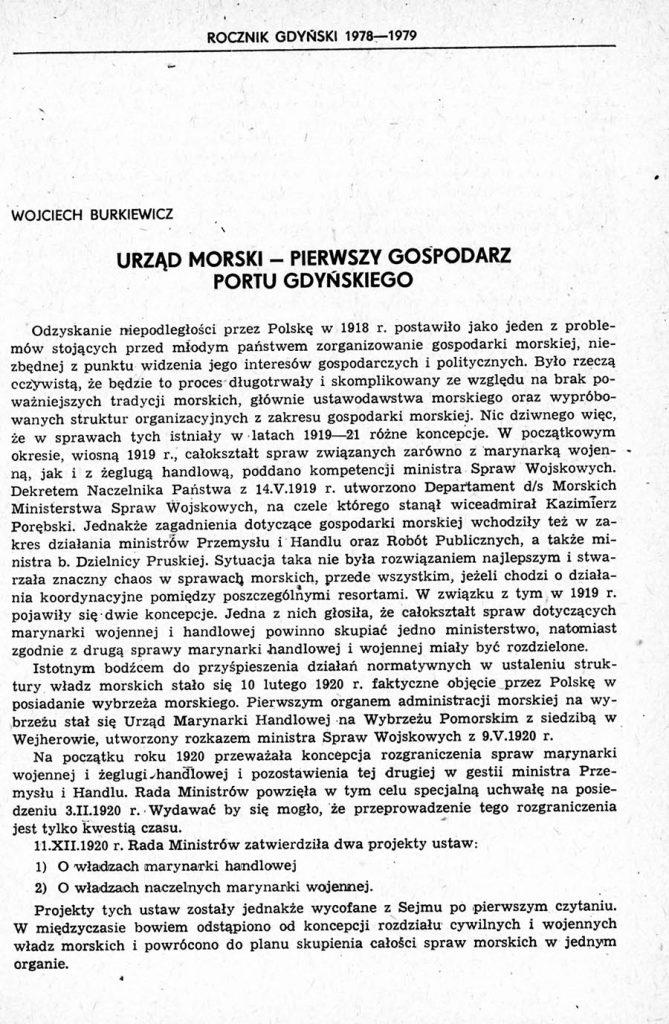 Urząd Morski - pierwszy gospodarz portu gdyńskiego