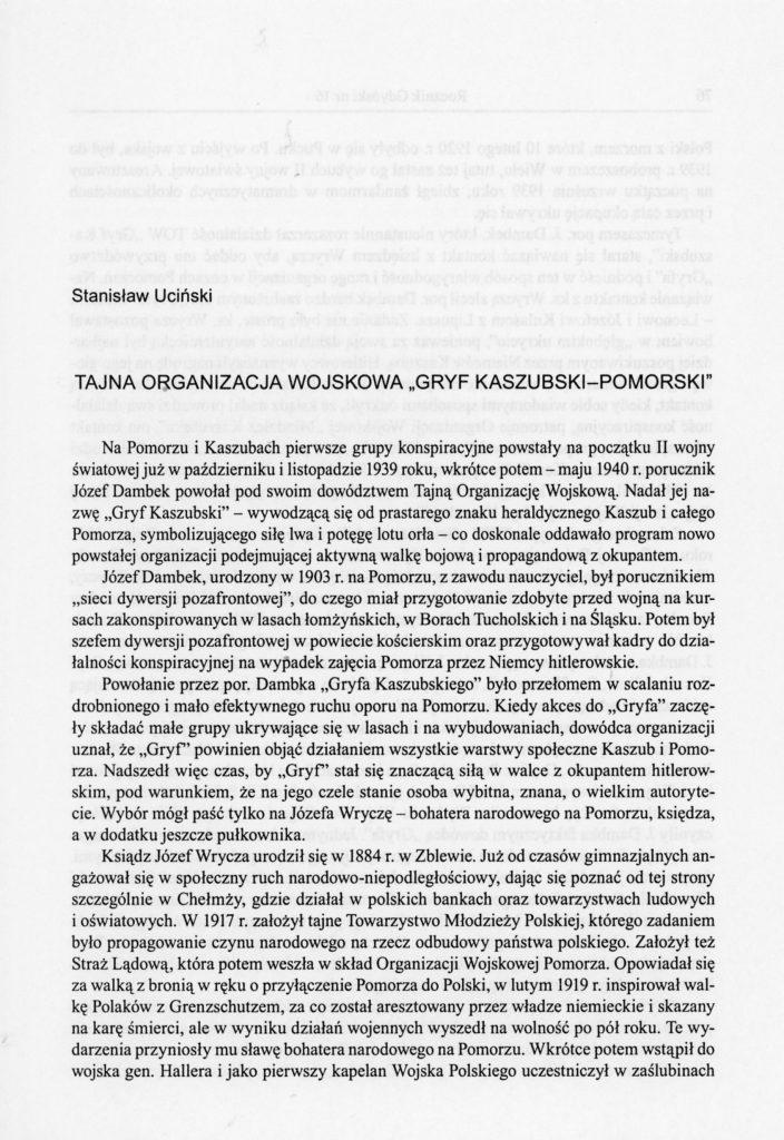 """Tajna Organizacja Wojskowa """"Gryf Kaszubski-Pomorski"""""""