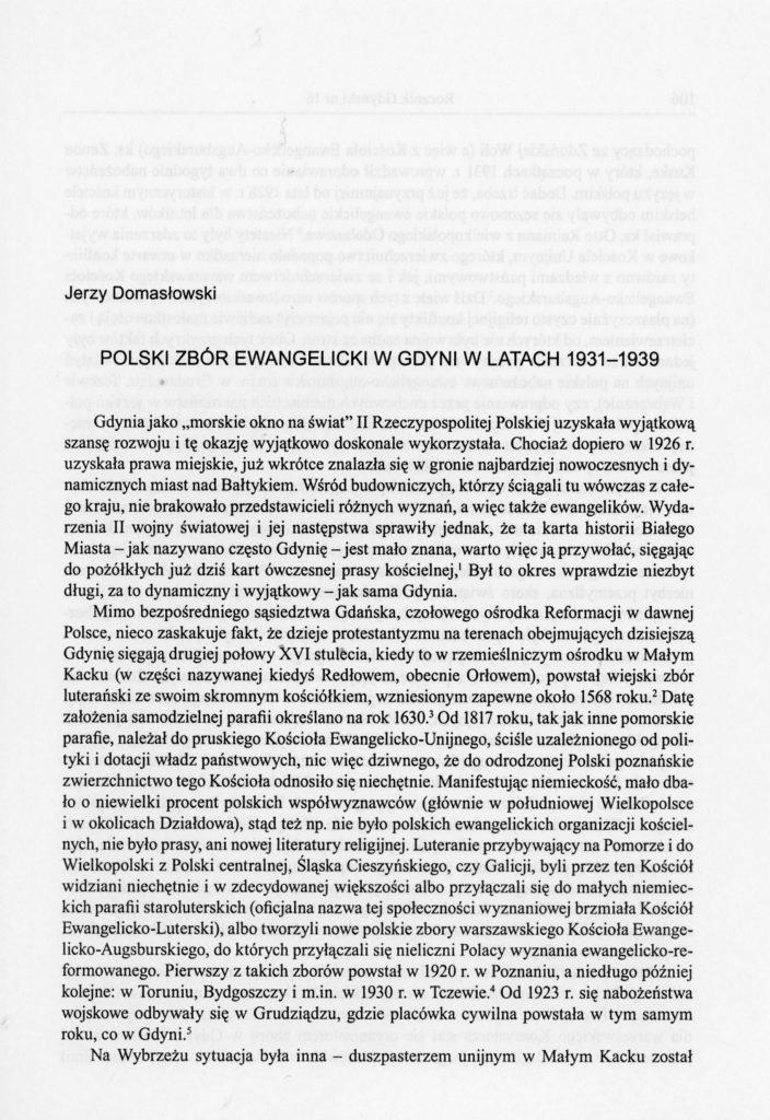 Polski  Zbór Ewangelicki w Gdyni w latach 1931-1939