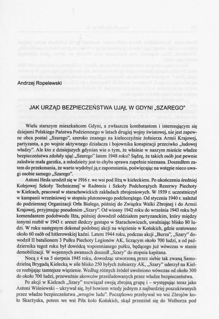 """Jak Urząd Bezpieczeństwa ujął w Gdyni """"Szarego"""""""