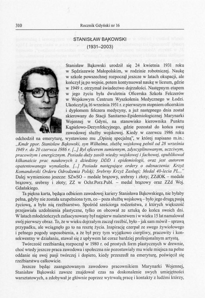 Stanisław Bąkowski (1931-2003)