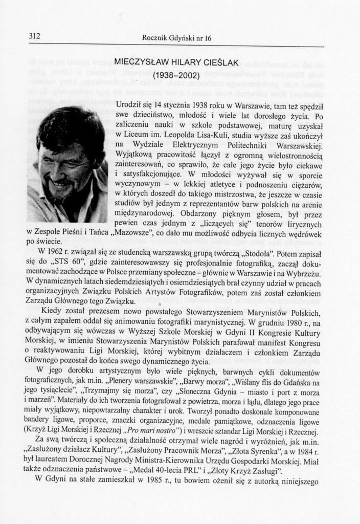 Mieczysław Hilary Cieślak (1938-2002)