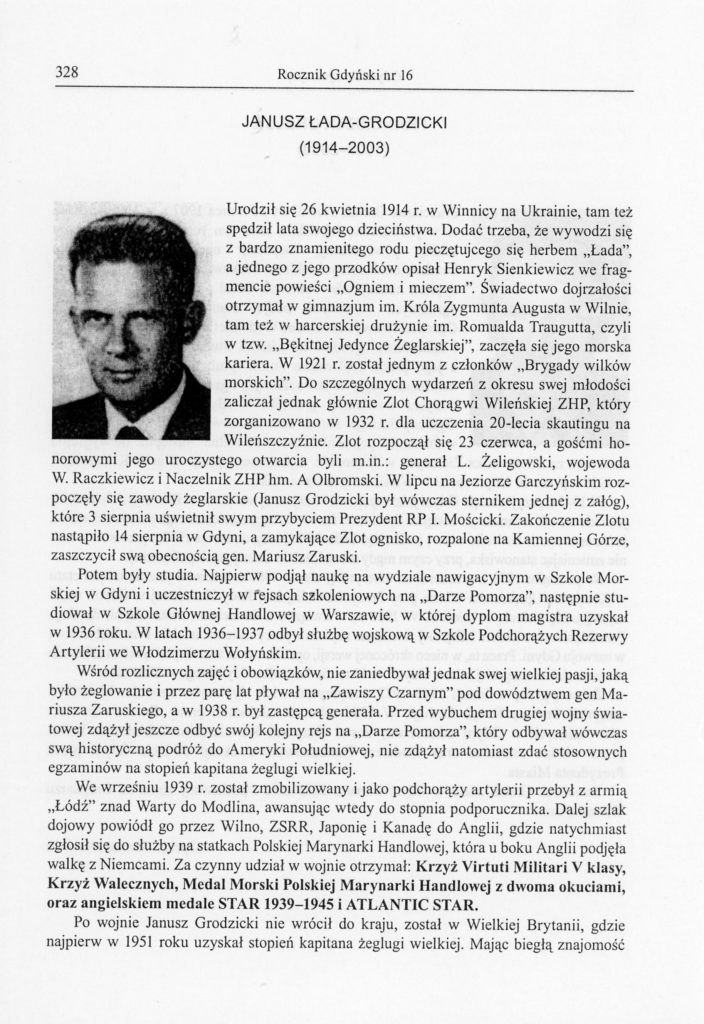 Janusz Łada-Grodzicki (1914-2003)
