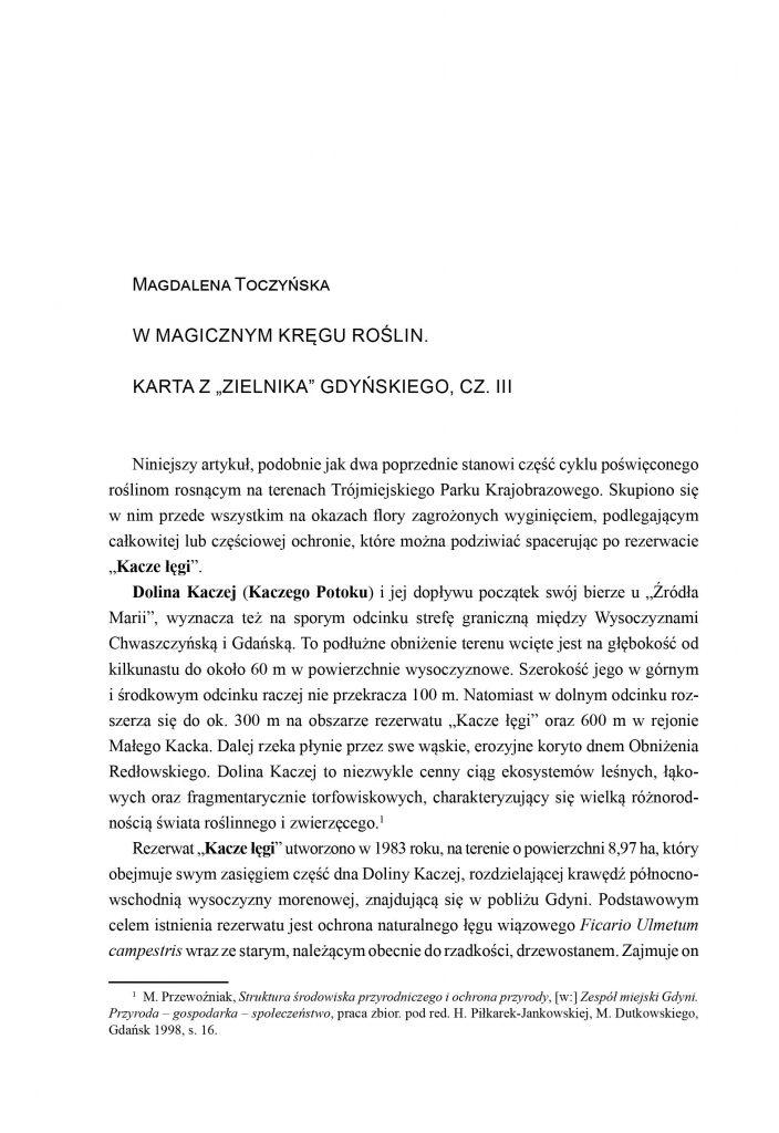 """W magicznym kręgu roślin. Karta z """"zielnika"""" gdyńskiego, cz. III"""