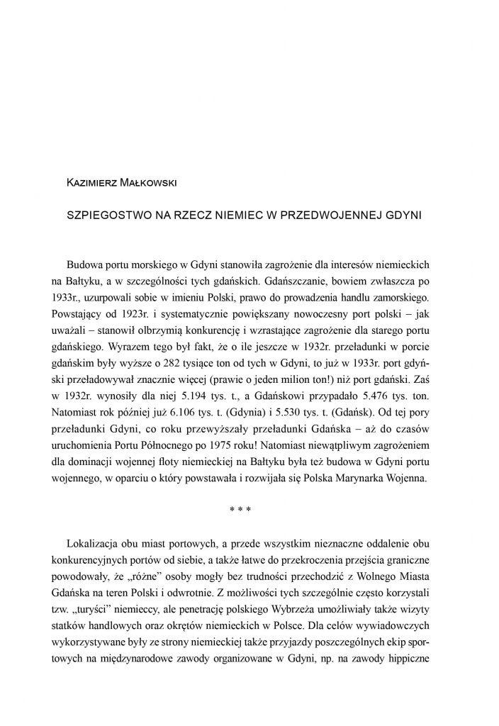 Szpiegostwo na rzecz Niemiec w przedwojennej Gdyni
