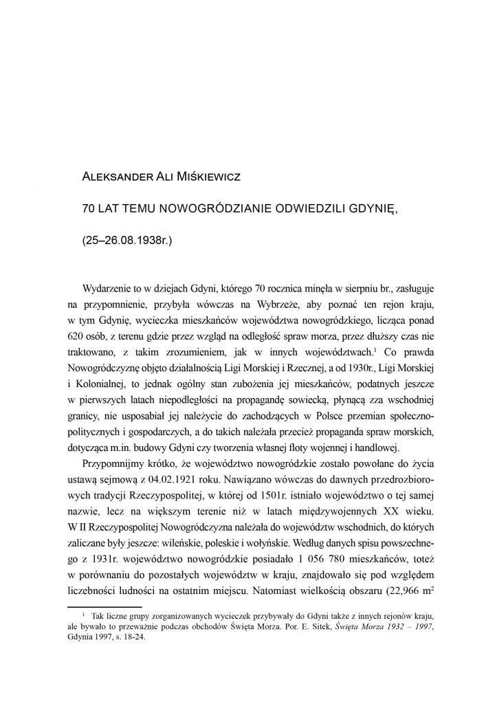 70 lat temu Nowogródzianie odwiedzili Gdynię (25-26.08.1938 r.)