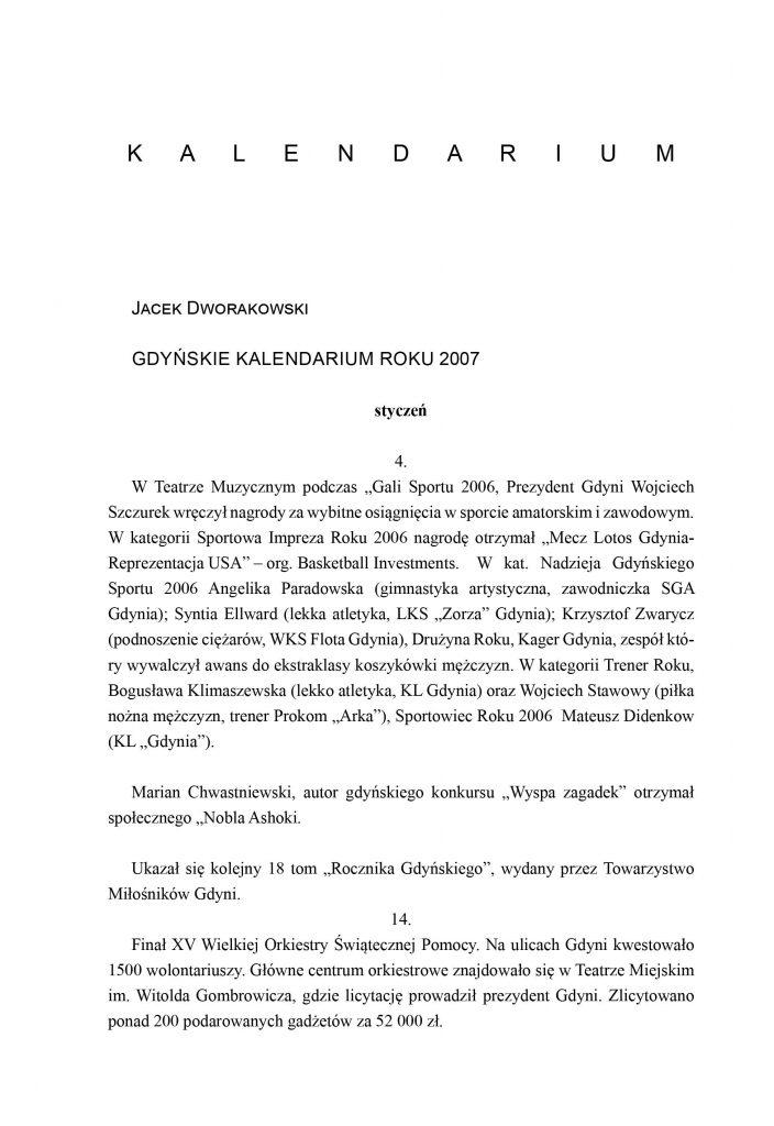 Gdyńskie kalendarium roku 2007