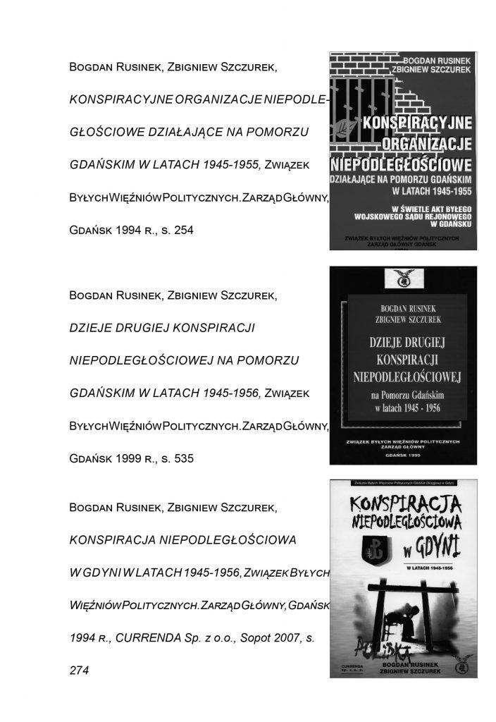Konspiracyjne organizacje niepodległościowe działające na Pomorzu Gdańskim w latach 1945-1955 w świetle akt byłego Wojskowego Sądu Rejonowego w Gdańsku