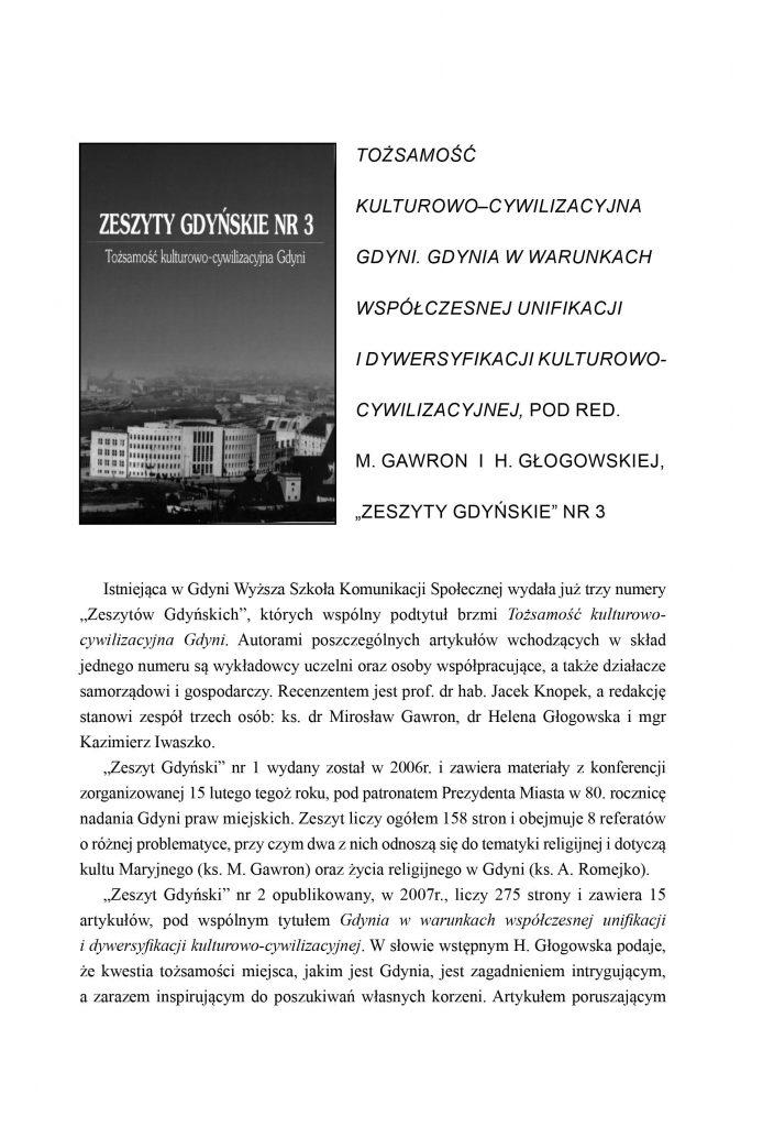 Tożsamość kulturowo-cywilizacyjna Gdyni