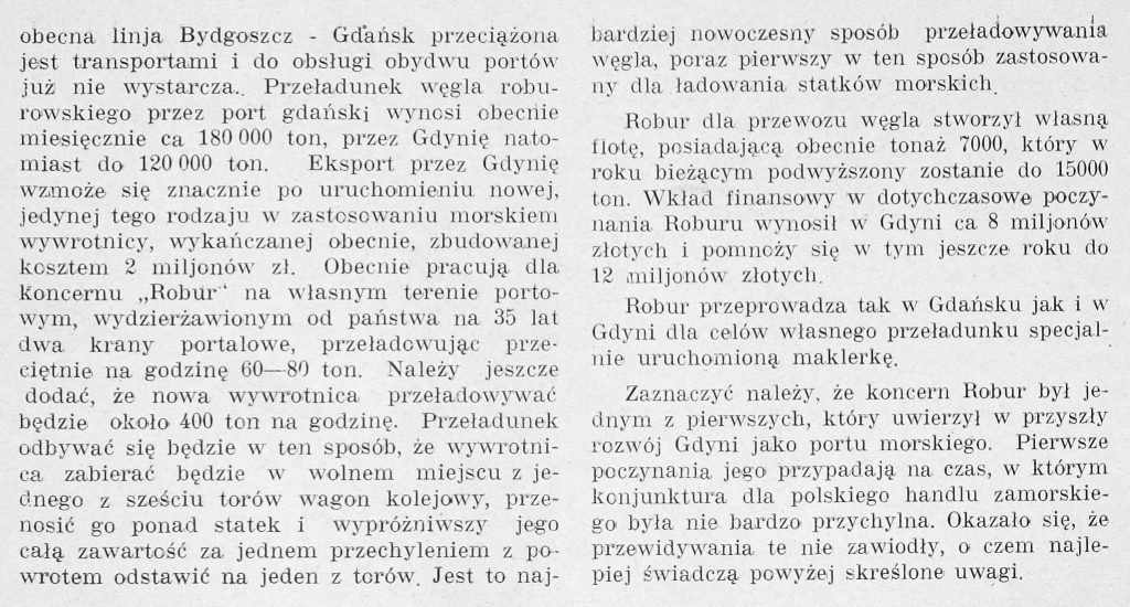 Eksport węgla polskiego przez Gdynię i Gdańsk