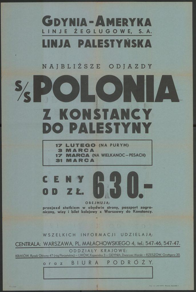 s/s POLONIA z Konstancy do Palestyny