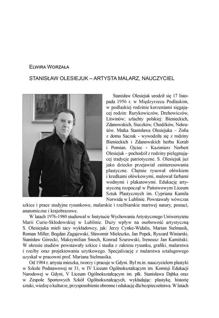 Stanisław Olesiejuk - artysta malarz, nauczyciel
