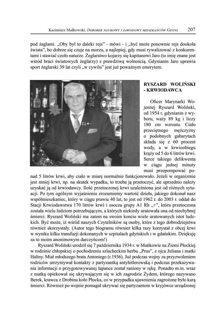 Ryszard Woliński - krwiodawca