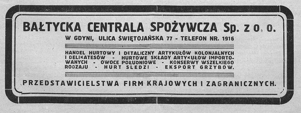Bałtycka Centrala Spożywcza Sp. z o. o.