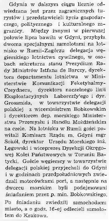 [Delegacja przedstawicieli węgierskiego lotnictwa cywilnego]