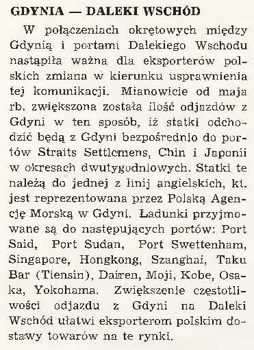 Gdynia - Daleki Wschód
