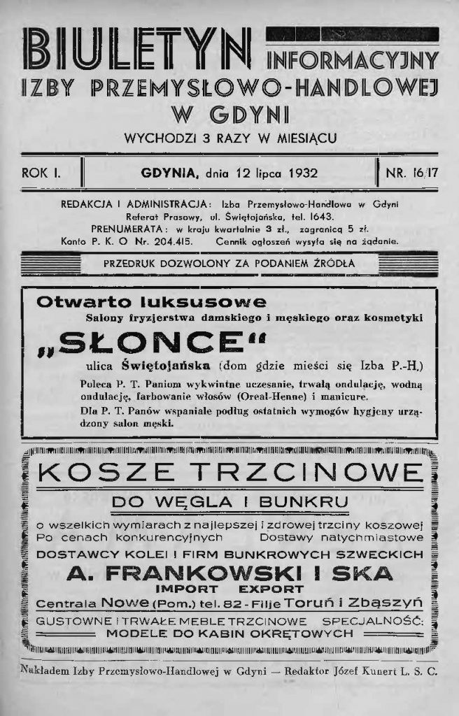 Biuletyn Informacyjny Izby Przemysłowo-Handlowej w Gdyni