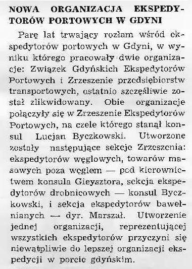 Nowa organizacja ekspedytorów portowych w Gdyni