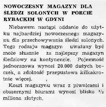 Nowoczesny magazyn dla śledzi solonych w porcie rybackim w Gdyni