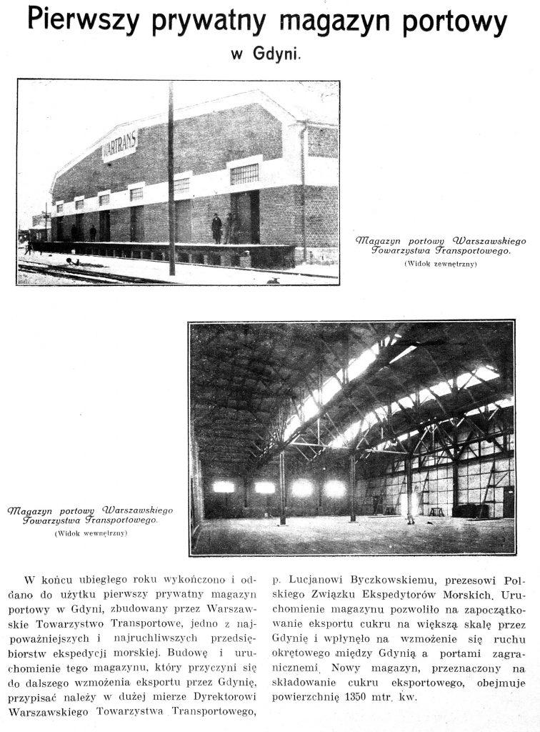 Pierwszy prywatny magazyn portowy w Gdyni