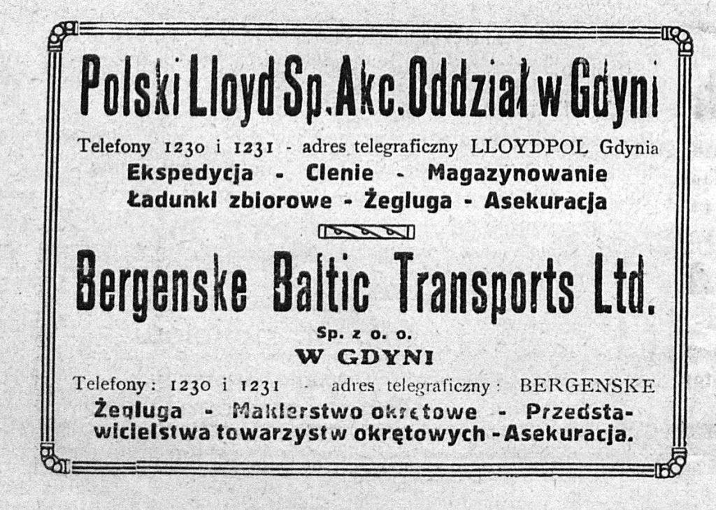 Polki Lloyd Sp. Akc. Oddział w Gdyni